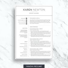 Contemporary Resume Template Free Minimalist Resume Template Word ...