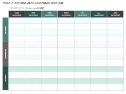 Appointment Calendars Free Weekly Appointment Calendar Schedule Template Through Daily