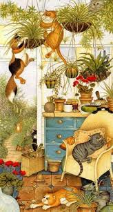 Conservatory Capers - Linda Jane Smith | <b>Cats</b> illustration, <b>Cat</b> ...