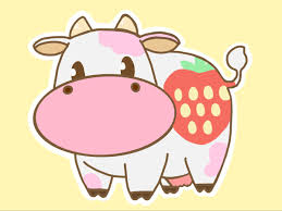 Aesthetic Stawberry Cow Wallpaper ...