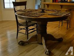 round oak dining table with leaf 125