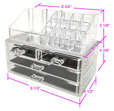 Amazon.com: Sodynee Jewelry and Cosmetic Storage 2 Piece Acrylic Makeup  Organizer: Home & Kitchen