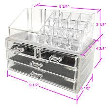 amazon sodynee jewelry and cosmetic storage 2 piece acrylic makeup organizer home kitchen