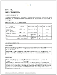 Best Resume Formats For Experienced Professional Resume Template ...