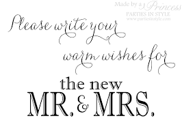 Warm Wishes For The Mr And Mrs Guest Book Wedding Reception Sign