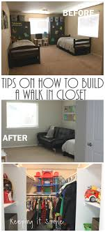 tips on how to build a closet to make a room a bedroom