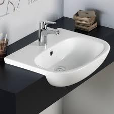rak tonique 52cm semi recessed basin 1 tap hole tonsrbas1 um image