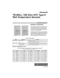 63 2712 01 Tb Wall 10k Ohm Ntc Type Ii Wall
