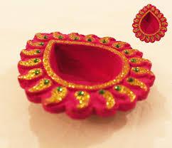 Diya Painting Designs Beautiful Hand Painted Kundan Diya Diwali Craft Diwali