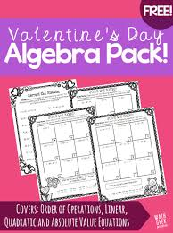 this resource is so cute fun and free practice pages for algebra students including order