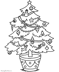 Printable Christmas Tree Printable Christmas Tree Coloring Pages 005 Coloring Home
