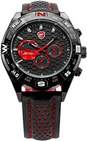 shortfin shark black red leather watches for men shark sport shortfin shark black red leather watches for men shark sport watch official