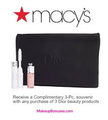 receive a free 3 pc gift with your 3 dior beauty s purchase