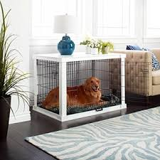 Merry Products White Wooden Pet Kennel with Crate Cover Free
