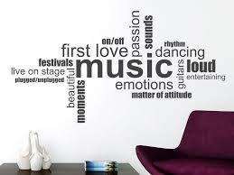Wandtattoo Music Wortwolke Englische Begriffe Wandtattoode