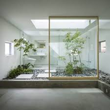 Green Ideas For Modern Bathroom Decorating With Plants - Japanese house interiors