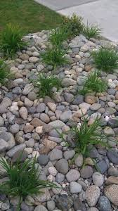 Replace front yard flower beds with river rock | Tuine | Pinterest | Front  yards, Yards and Rivers