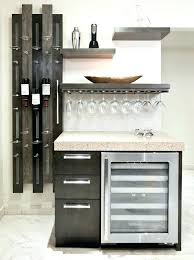 contemporary design ideas magnificent wet bar decorating for lovely kitchen with custom floating shelves hanging glasses custom floating shelf