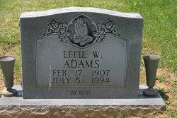 Effie Wheeler Adams (1907-1994) - Find A Grave Memorial