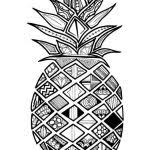 Small Picture Zentangle Pineapple Coloring Pages Coloring Pages