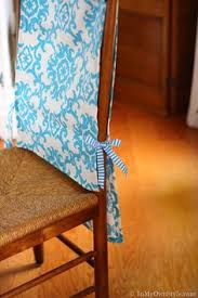easy sew decorating how to make dining room chair runner slipcovers in my own