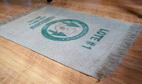 burlap rug this particular tutorial uses an old coffee bag but you could just as easily use any kind of burlap for this rug you could even print your