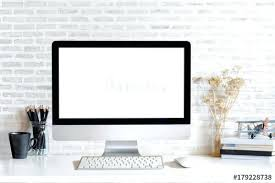Cool stationery items home Desk Desktop Light Table Of Modern Desktop Computer With Empty Screen And Stationery Items On Light Table In Workspace Home Appliances Ideas Home Business Ideas Desktop Light Table Of Modern Desktop Computer With Empty Screen And