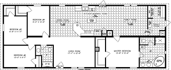 manufactured home floor plan the imperial model imp 46819b 4 bedrooms 2