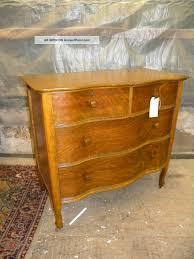 Oak Bedroom Chest Of Drawers Antique Oak Serpentine Curved Front Dresser Bedroom Chest Of