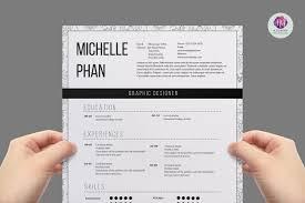 modern 1 page resume resume templates on creative market
