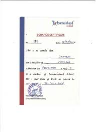Documents For Admission In Other Schools Fountainhead School