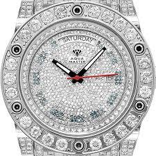 aqua master magnum 22 00 ct all way diamond mens watch