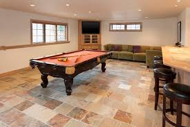 Basement ceramic tile floors
