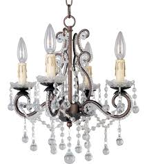home and interior amazing bronze mini chandelier at murray feiss maison de ville 1 light