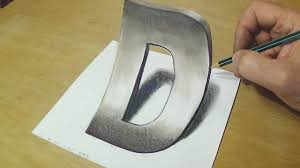 how to draw 3d letter trick art drawing anamorphic illusion for kids s