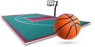 basketball goal and court