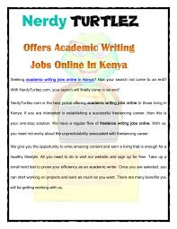 nerdyturtlez com offers academic writing jobs online in by nerdyturtlez com offers academic writing jobs online in by mac larry issuu
