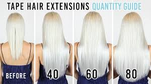 Tape Hair Extensions Quantity Guide Zala Hair Extensions