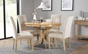 gallery hudson round oak extending dining table