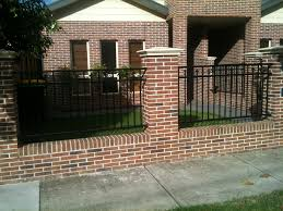 Small Picture Exteriors Brick Fence for Exterior Housing Design Bold Fence