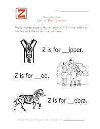 Worksheet Letter Z
