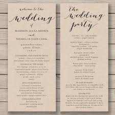 wedding program sle template greeting greeting best