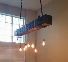 edison lamp wooden chandelier reclaimed wood beam chandelier with edison bulbs fama creations