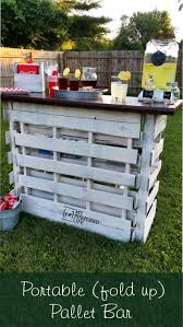 do it yourself pallet furniture. DIY Pallet Bar Is Great For Weddings,tailgating, Parties And More. Do It Yourself Furniture