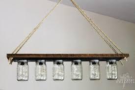 mason jar pendant chandelier light from bathroom vanity light strip the summery umbrella featured on