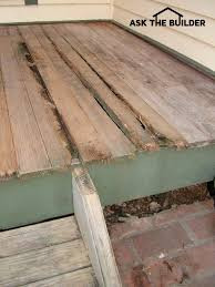 this tongue and groove porch flooring is exposed to the weather it suffered serious rot because it was not treated with a preservative 2017 tim carter