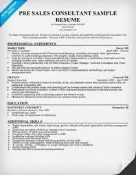 Pre #Sales Consultant Resume Sample (resumecompanion.com) | Resume Samples  Across All Industries | Pinterest