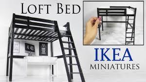 ikea miniature furniture. Miniature IKEA Loft Bed Tutorial Ikea Furniture K