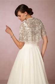 Philomena Beaded Cape by Needle Thread BHLDN The Bridal.