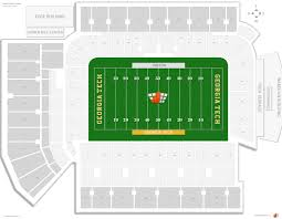 bobby dodd stadium seating chart with row numbers